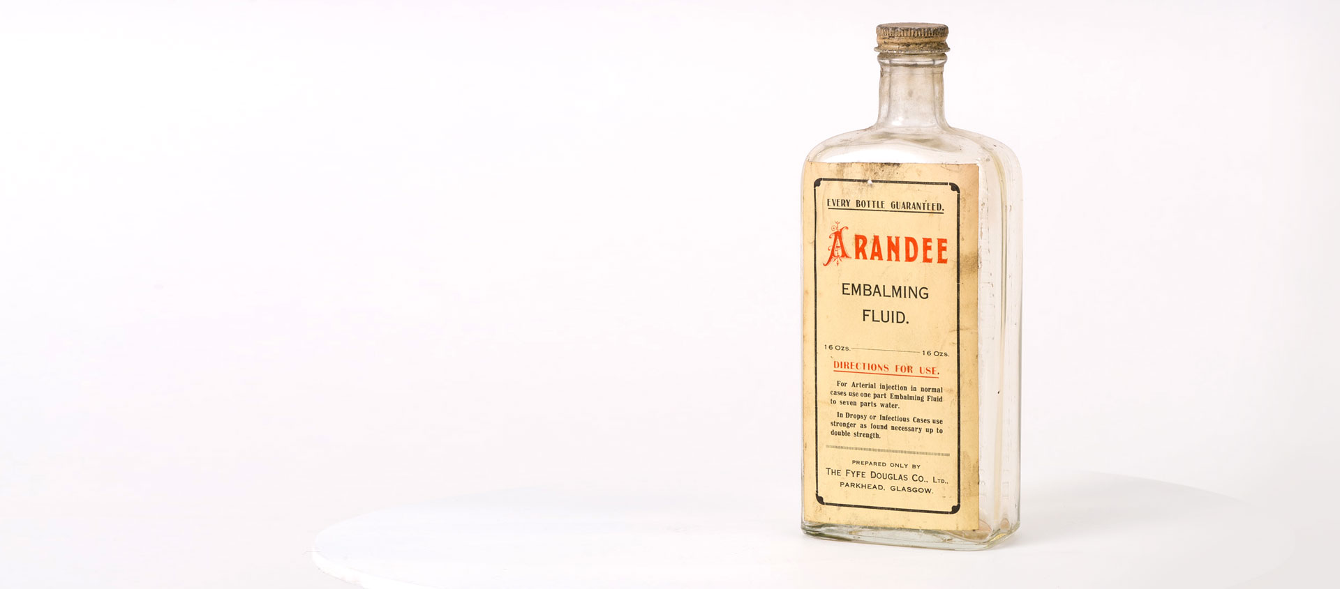 Collection Update – Embalming Fluid Bottle
