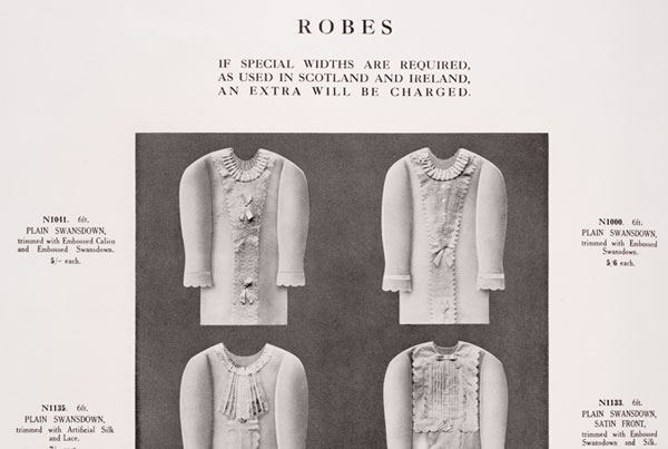 Catalogue Page – Robes