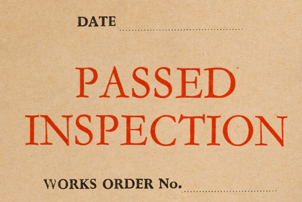 Envelope – Passed Inspection